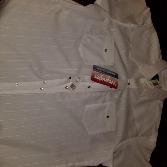 Vintage Pearl Snap Wrangler Dress Shirt w/ Tags